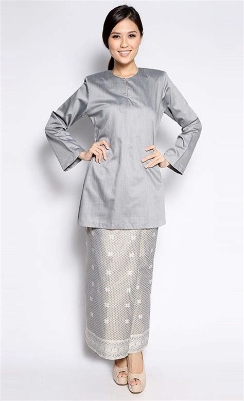 design dress songket sarawak songket kurung in grey jakel via fashionvalet dress