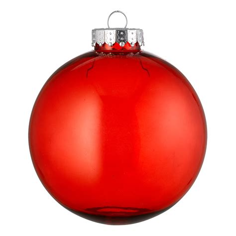christmas baubles clear baubles red dzd