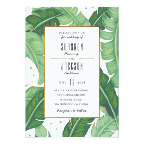 Summer Wedding Invitations by Tropical Summer Wedding Invitation Zazzle