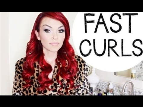 how to curl your hair fast with a wand fast curls hairstyle how to turn your curling iron into