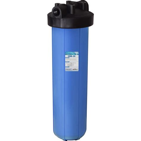 whole house water filtration apec water systems 20 in big blue whole house water filter housing 1 in inlet outlet hbb 20