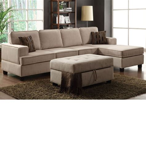 Reversible Sectional Sofa Chaise Dreamfurniture 50550 Lavenita Desperado Fabric Reversible Chaise Sectional Sofa Set