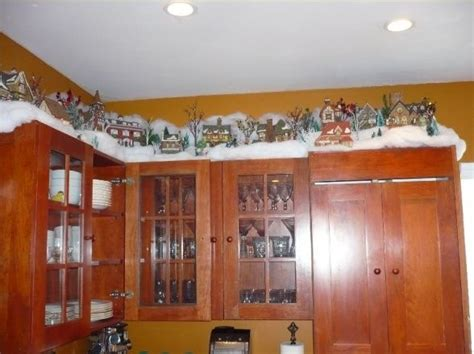 christmas decorations on kitchen cabinets kitchen cabinets on top of the cabinets cabinets decorated with department