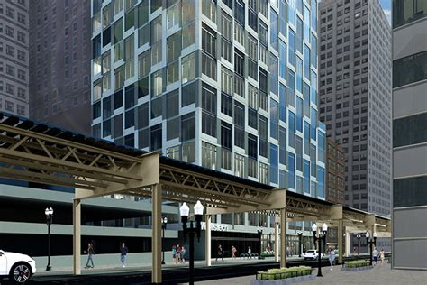 Parking Garages Chicago by 20 Story Boutique Office Project Could Replace Chicago
