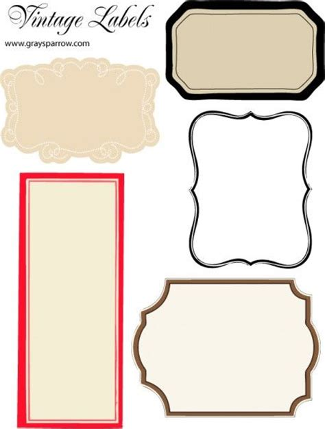 free a sheet of blank printable vintage labels repinned