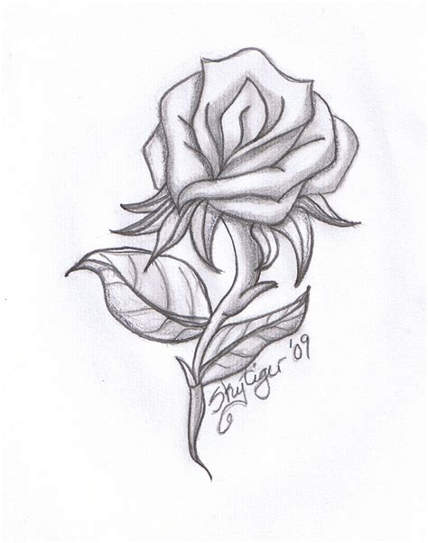 cool tattoo sketches and drawings cool pics to draw rose pencil drawing by skytiger