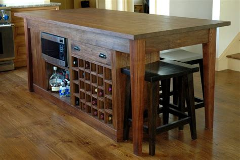 wooden kitchen islands breathtaking kitchen island with wine rack plans with