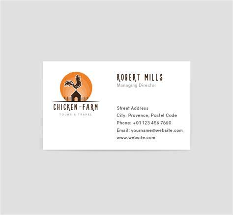 Farm Business Card Template by Chicken Farm Logo Business Card Template The Design