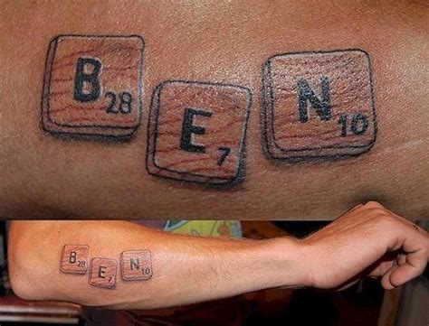 scrabble tattoo design scrabble teamroom13 ideas
