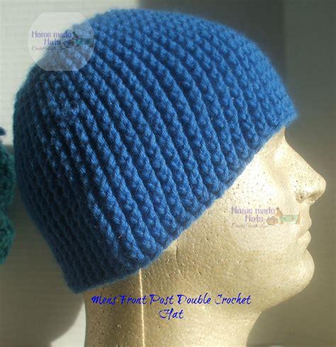 pattern crochet mens hat mens front post double crochet beanie free crochet hat