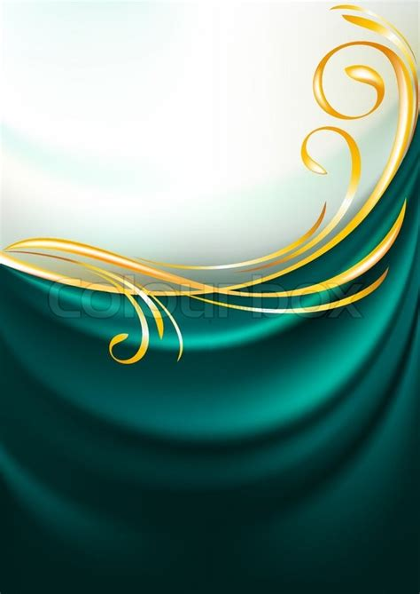 Vignette Home Decor by Dark Emerald Fabric Curtain Background Gold Vignette