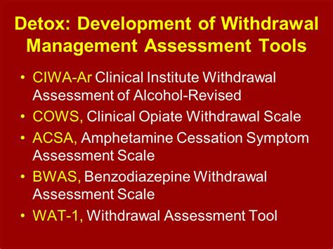 Detox Or Withdrawal by Wsadcp Conference Seattle Wa Ppt