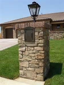 Lighting A Chiminea Brick Mailbox Mailbox Post And Light Fixtures On Pinterest