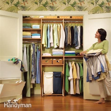 simple closet organizers closet organization a simple shelf and rod system the