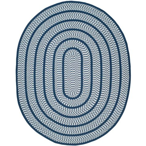 safavieh braided ivory navy 8 ft x 10 ft oval area rug