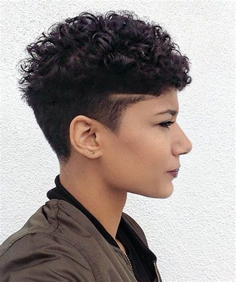 brilliant short curly hairstyles with shaved sides 20 sassy and sexy black pixie cuts curly undercut
