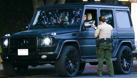 mercedes g class matte kylie jenner gets a speeding ticket in her g wagen from