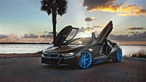 bmw i8 wallpaper hd at bmw i8 blue hre wheels wallpaper hd car wallpapers id