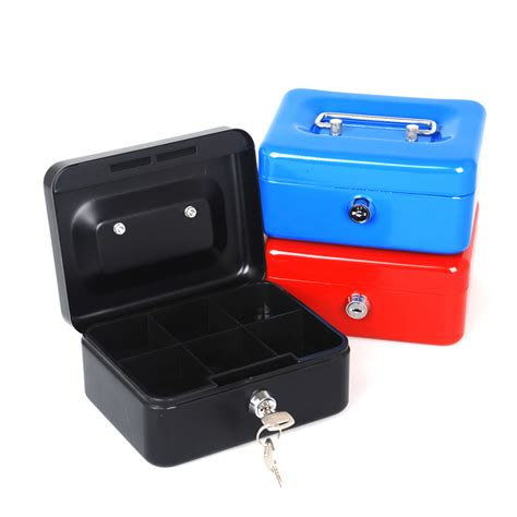 free shipping mini portable steel petty lock safe box