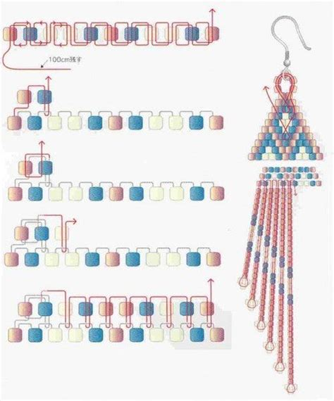 pattern xsd d schema from pinner for celebration brick stitch earrings