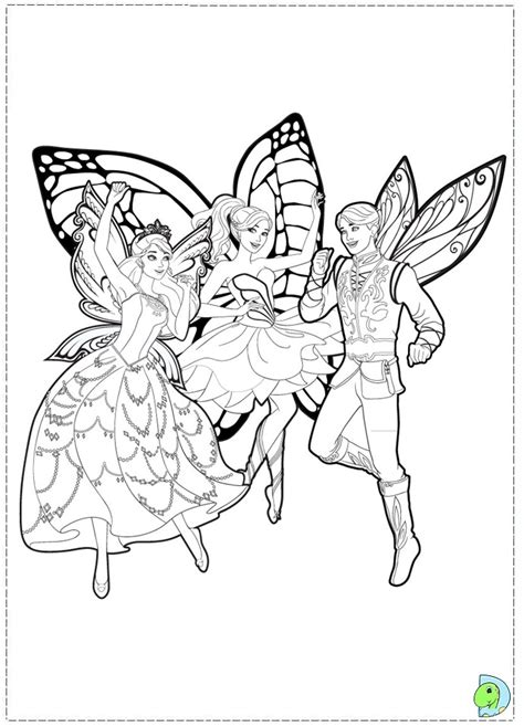 barbie fairy coloring coloring pages