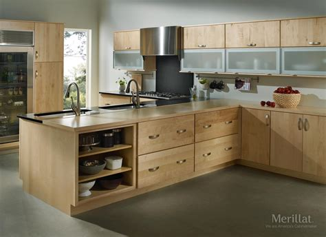 light wood kitchens merillat masterpiece 174 epic in maple natura