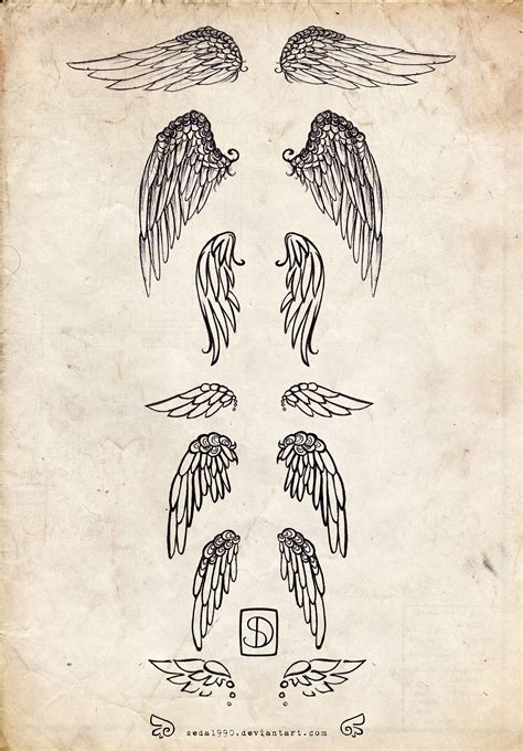 wing tattoos designs wings images designs