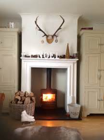 this ismy dream fireplace Wood burner antlers heaven