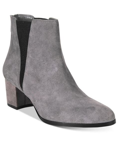macys womans boots alfani s vitaa ankle booties only at macy s in gray