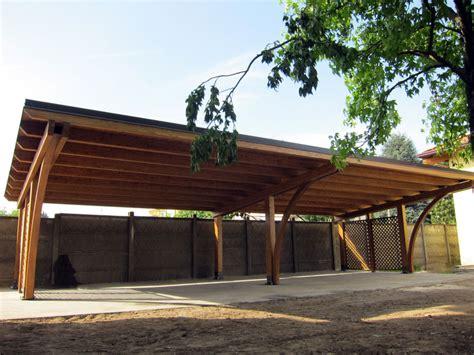 tettoia in legno prezzi tettoia di legno modulare per quattro posti auto r04310