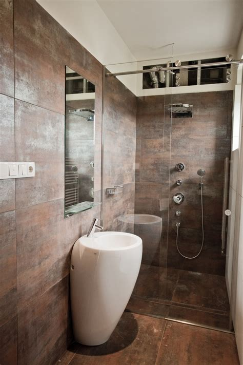 brown tile bathroom brown bronze bathroom tile interior design ideas