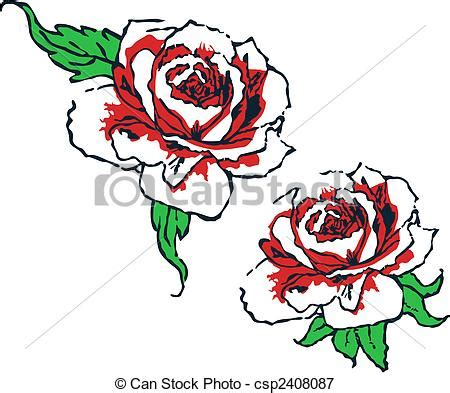 vectors illustration of fancy rose tribal design