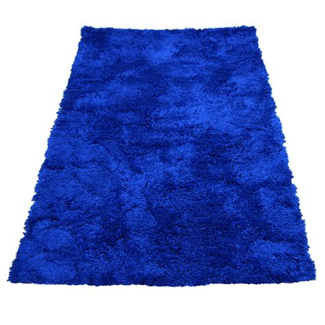 Large Blue Rugs by Shaggy Blue Quality Thick Luxurious Soft Large Rug