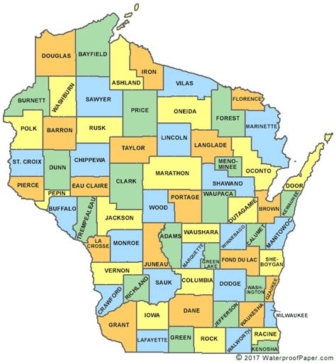 map of wi printable wisconsin maps state outline county cities