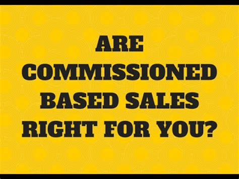 are commission based sales a career choice