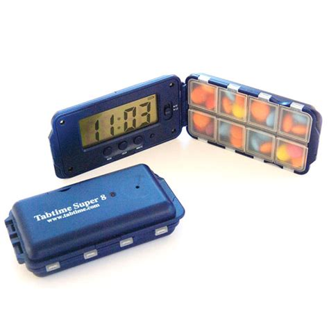 Capsul Medicine Box With Alarm tabtime pill box with alarm timer pill boxes reminders manage at home
