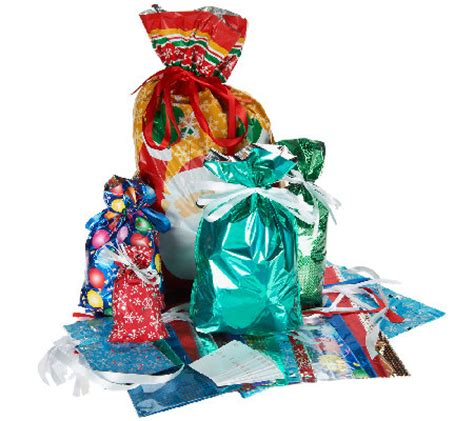 kringle express 50 piece e z drawstring holiday gift bag