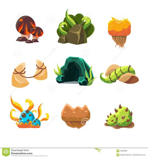 game design elements in vector from stock 4 video game level design collection of elements stock
