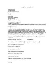 Record Of Employment Letter K Sle Letter To Check Employment Applicant S Educational Credentials Hashdoc