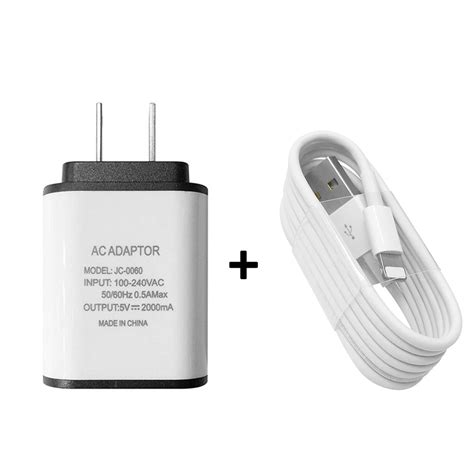 G U Travel Adapter Usb decorative accents white usb 8 pin cable charger