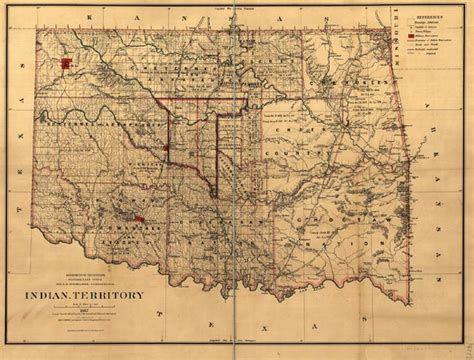 indian territory map united states cherokees
