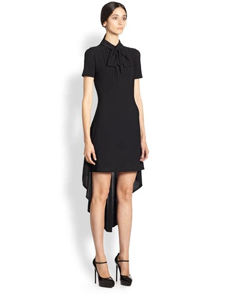 Laurent Slit Dress Black laurent draped dress in black lyst