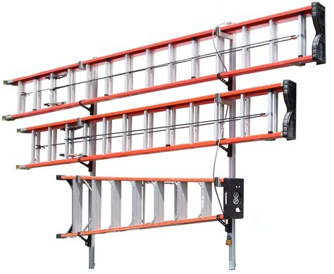 Ladder Storage Racks For Garage by 84 1 2 Quot 3 Ladder Wall Mount Ladder Rack Vertirack