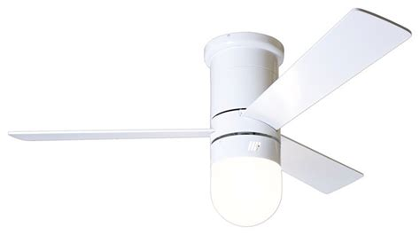 contemporary white ceiling fan with light 42 quot modern fan cirrus light gloss white hugger ceiling fan