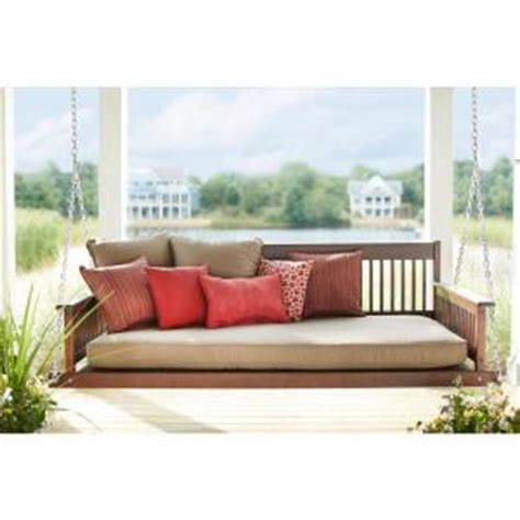 wood porch swing home depot plantation 2 person daybed wooden porch patio swing