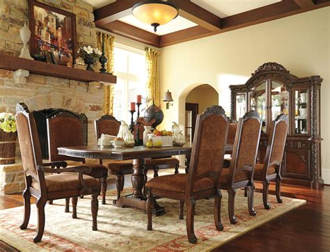 north shore dining room set by ashley millennium d553 millennium north shore formal dining room group dunk