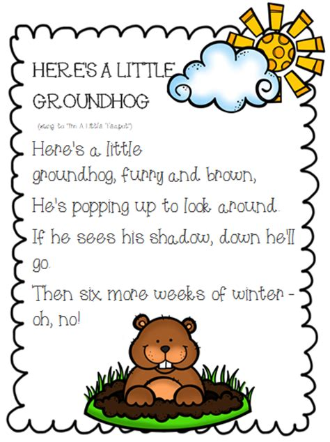 groundhog day poem the 2 teaching divas happy groundhog s day