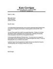 creative cover letter sle executive assistant cover letter