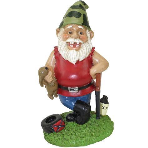 lawn gnome redneck lawn gnome get er gnomed
