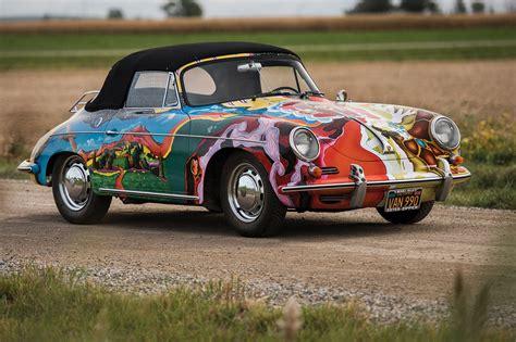 janis joplins psychedelic porsche sold  auction    car magazine
